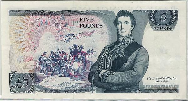 Bilde av England 5 punds Wellington