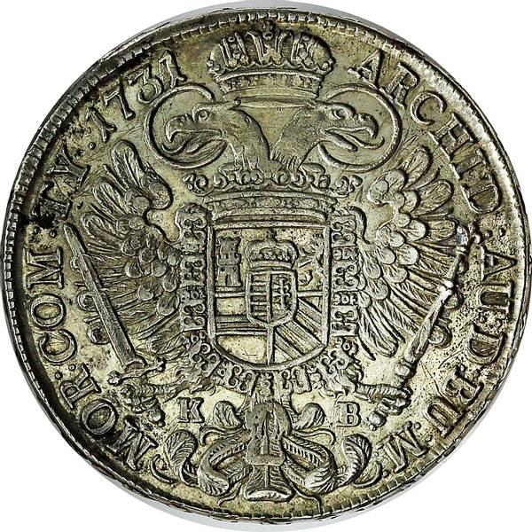 Bilde av Østerrike Karl VI Thaler 1731