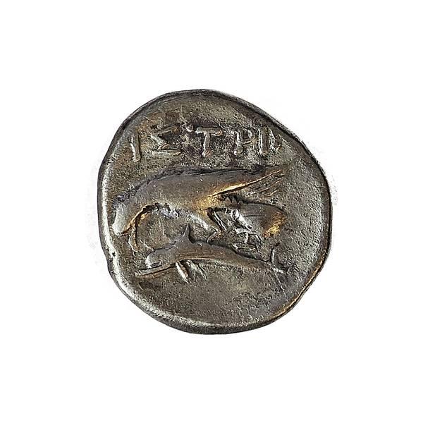 Bilde av Istros Drakme 400-300 f.Kr. Tvillingene
