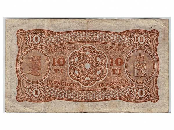 Bilde av Norge 10 kroner 1938 X