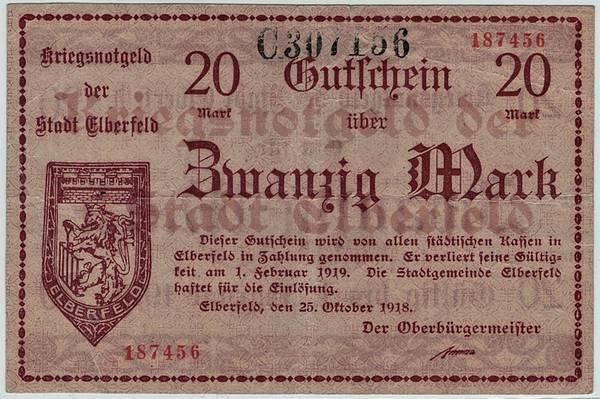 Bilde av Elberfeld 20 mark 1918