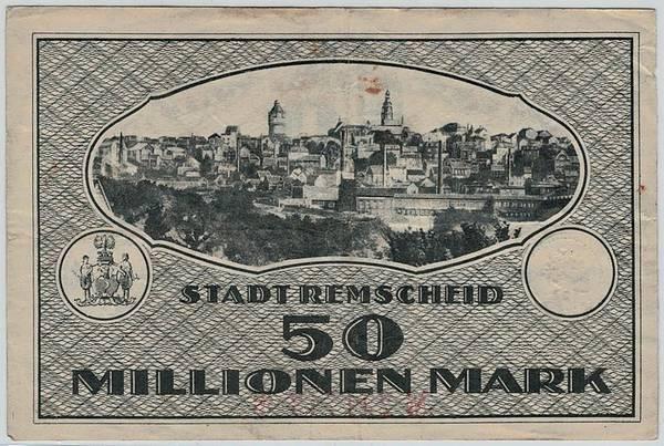 Bilde av Remscheid 50 millionen mark 1923