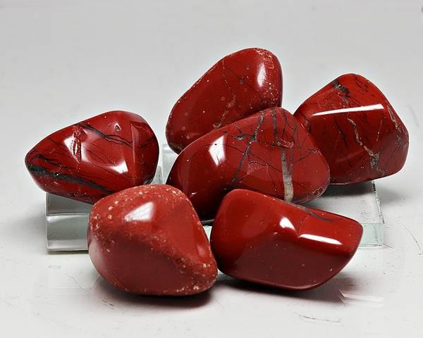 Bilde av Rød jaspis, tromlet