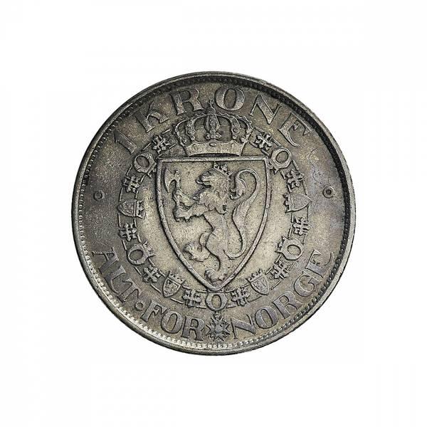 Bilde av 1 krone 1908 Myntmerke uten plate