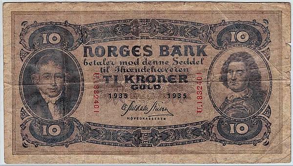 Bilde av 10 kroner 1935 U
