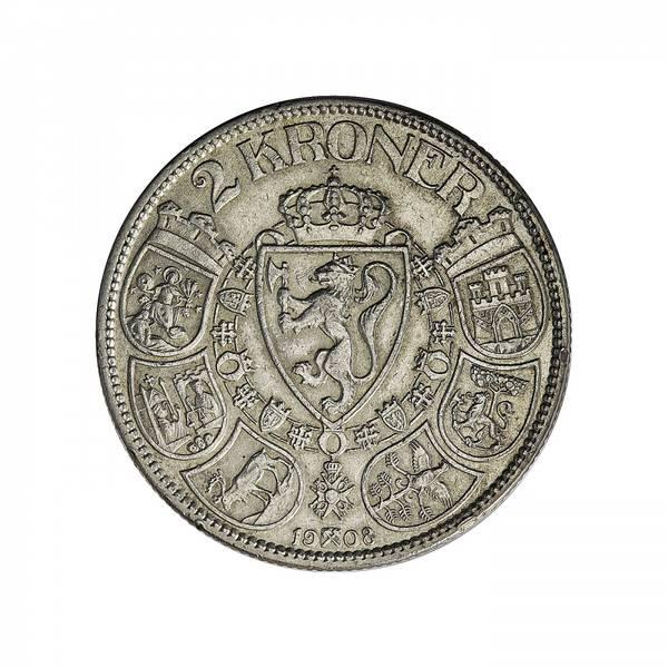 Bilde av 2 kroner 1908