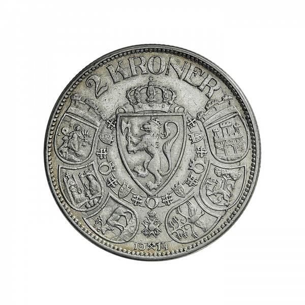 Bilde av 2 kroner 1914