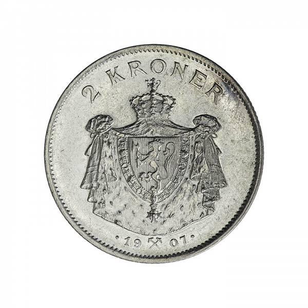 Bilde av 2 kroner 1907 Unionsoppløsningen
