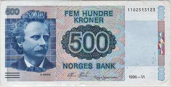 Bilde av 500 kroner 1996 6. utgave