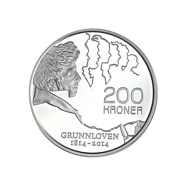 Bilde av 200 kroner 2014 Grunnlovsjubileum