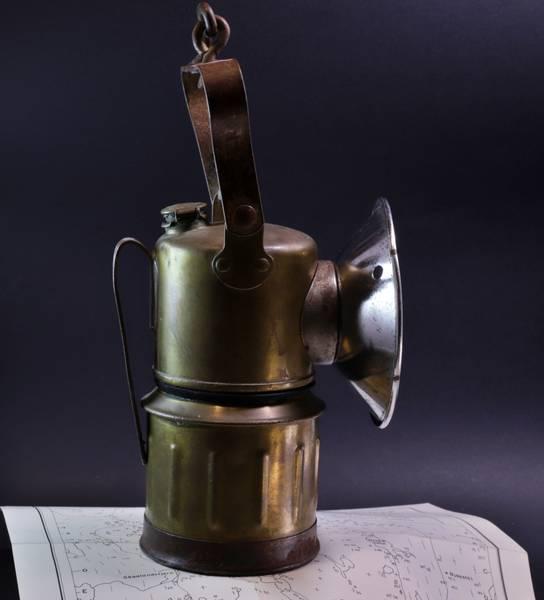 Bilde av Antikk karbidlampe (gruvelampe), Bolivia