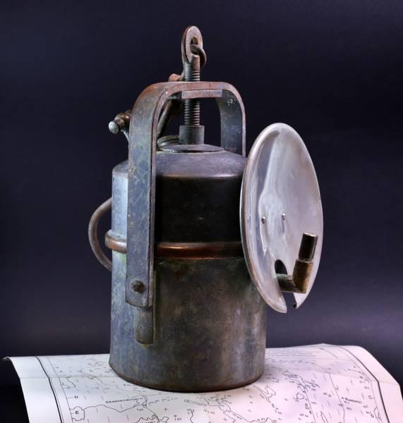 Bilde av Antikk karbidlampe (gruvelampe), Kongsberg