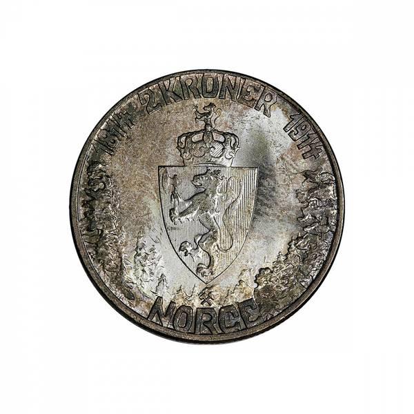 Bilde av 2 kroner 1914 Mor Norge