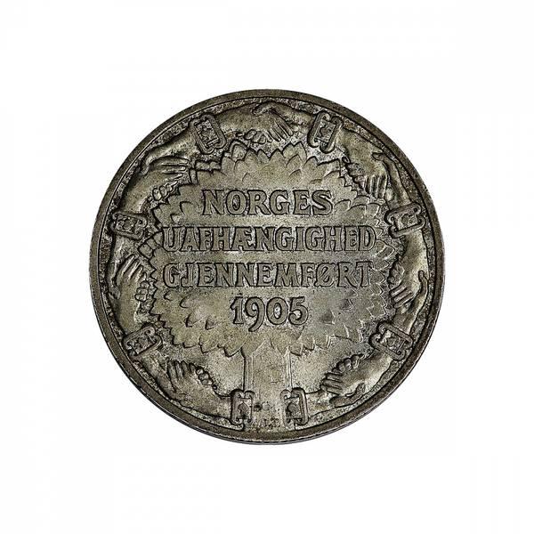 Bilde av 2 kroner 1906  Unionsoppløsningen