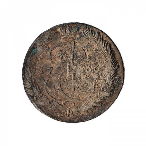 Bilde av Russland 5 kopek 1766 EM
