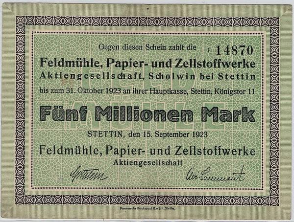 Bilde av Stettin 5 000 000 mark 1923