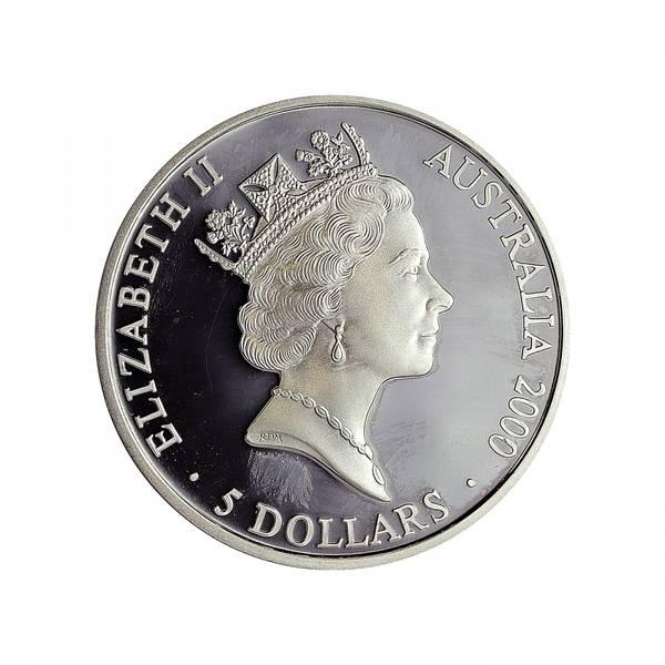 Bilde av Australia 5 dollar 2000 Kenguru og joey