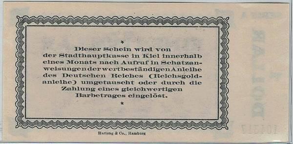 Bilde av Kiel 1 dollar = 4,2 goldmark 1923