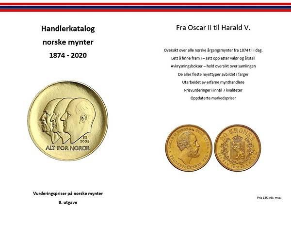 Bilde av Handlerkatalog norske mynter 2020