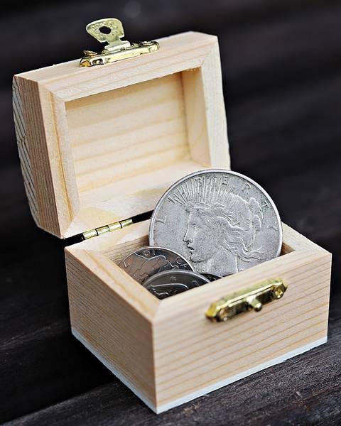 Bilde av Sølvskatten, med skattekiste
