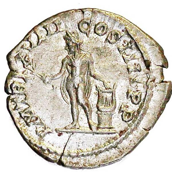 Bilde av Caracalla Denar 198-217 Apollo