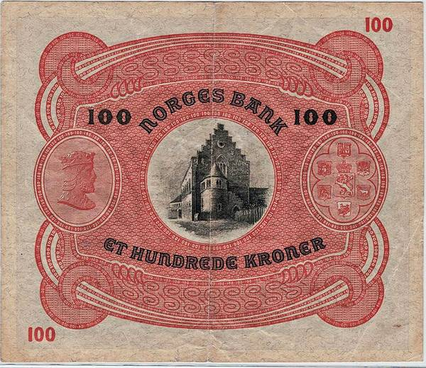Bilde av 100 kroner 1942 B Nummerrekkefølge