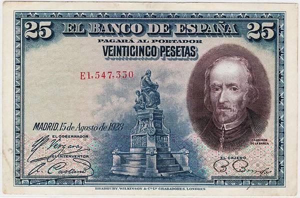 Bilde av Spania 25 pesetas 1928