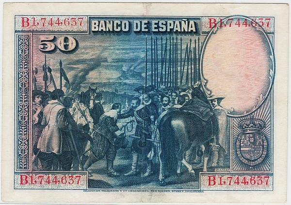 Bilde av Spania 50 pesetas 1928