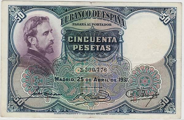 Bilde av Spania 50 pesetas 1931