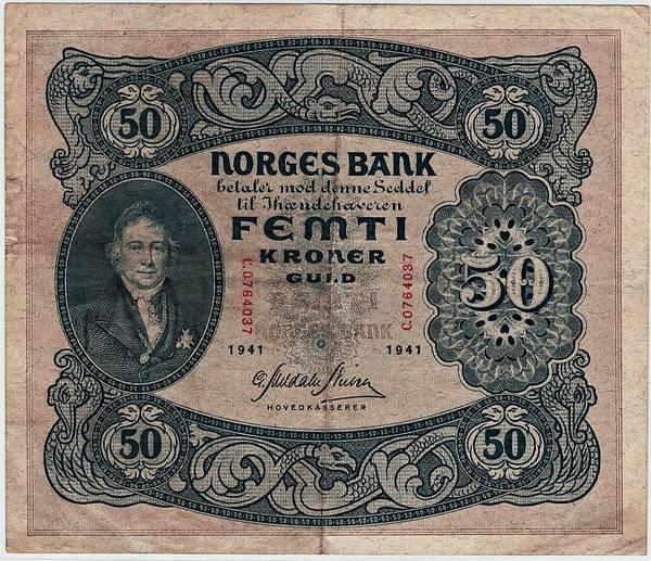 Bilde av 50 kroner 1941 C