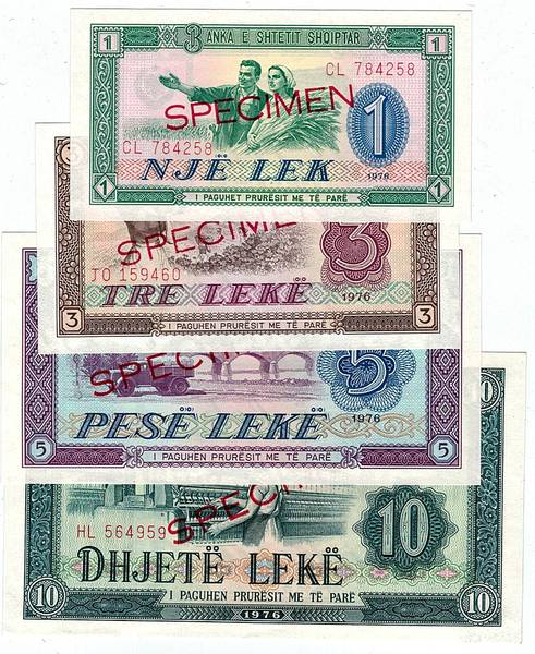 Bilde av Albania 1-100 leke 1976 Specimen