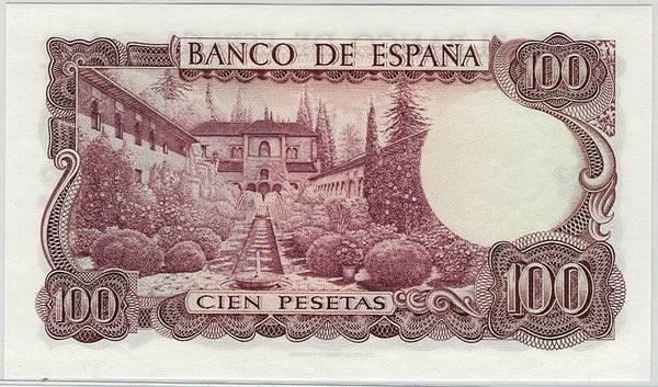 Bilde av Spania 100 pesetas 1970