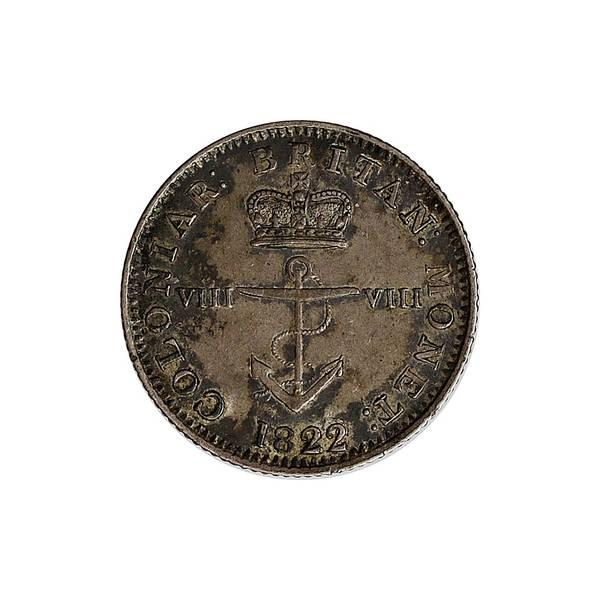 Bilde av Britisk Vestindia 1/8 dollar 1822/1