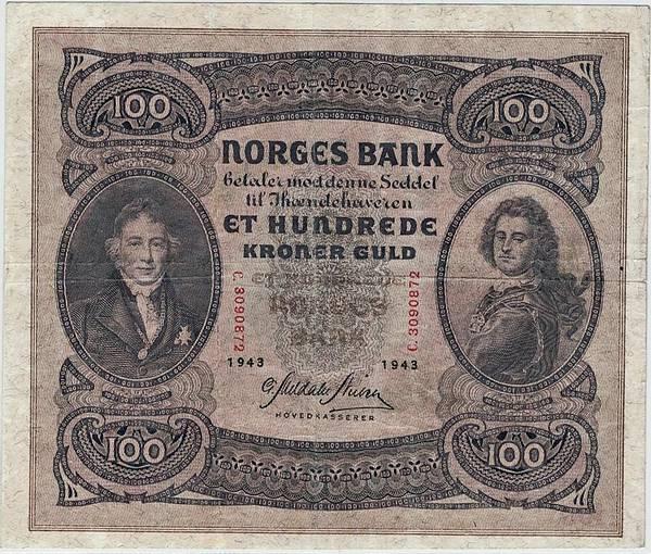 Bilde av 100 kroner 1943 C