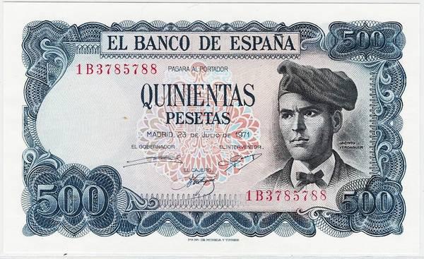 Bilde av Spania 500 pesetas 1971