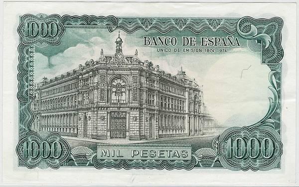 Bilde av Spania 1000 pesetas 1971