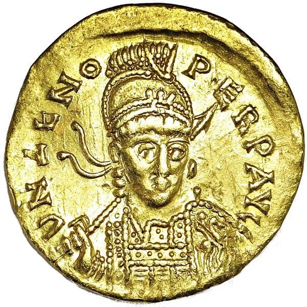 Bilde av Zeno Solidus 474-491 Gull!