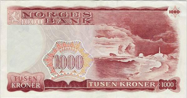 Bilde av 1000 kroner 1986 5. utgave