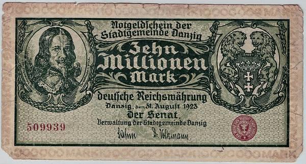 Bilde av Danzig 10 millioner 1923