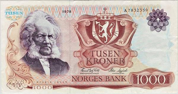 Bilde av 1000 kroner 1978 5. utgave