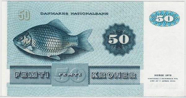 Bilde av Danmark Halvtredsintyve kroner 1972