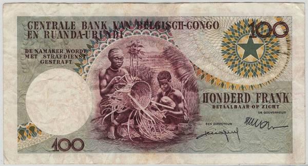 Bilde av Belgisk Kongo 100 francs 1959