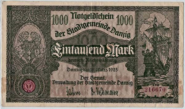 Bilde av Danzig 1000 mark 1923