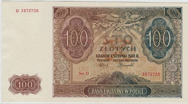 Bilde av Polen 100 zloty 1941