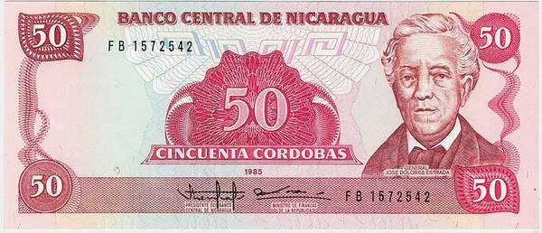 Bilde av Nicaragua 10 cordobas 1985