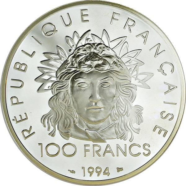 Bilde av Frankrike 100 francs 1994