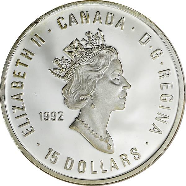 Bilde av Canada 15 dollars 1992