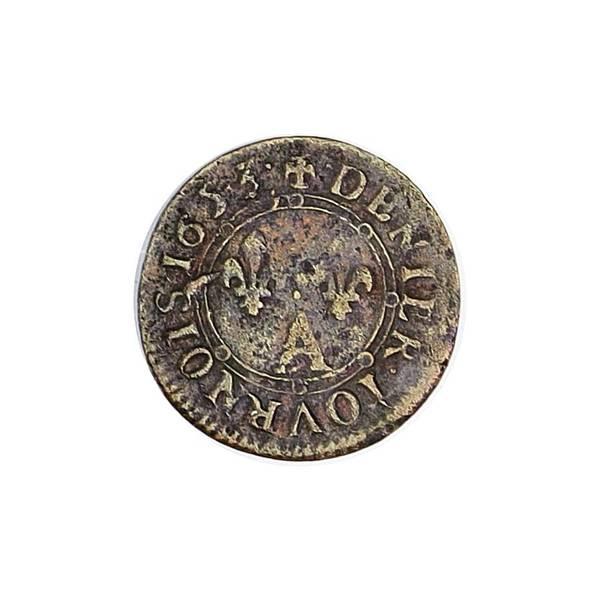 Bilde av Frankrike 1 denier 1653