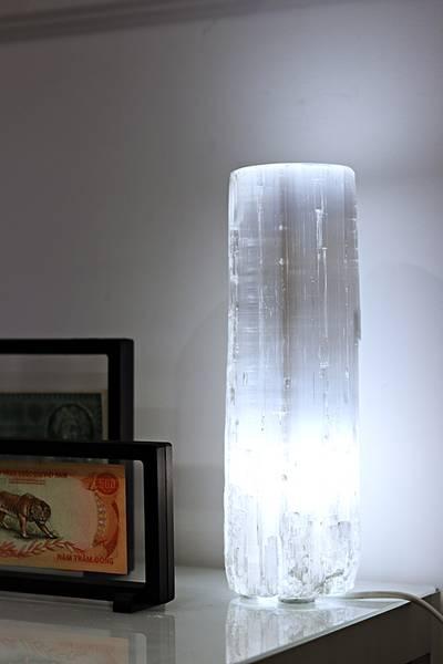 Bilde av Koselig selenittlampe, flat topp, 30 cm