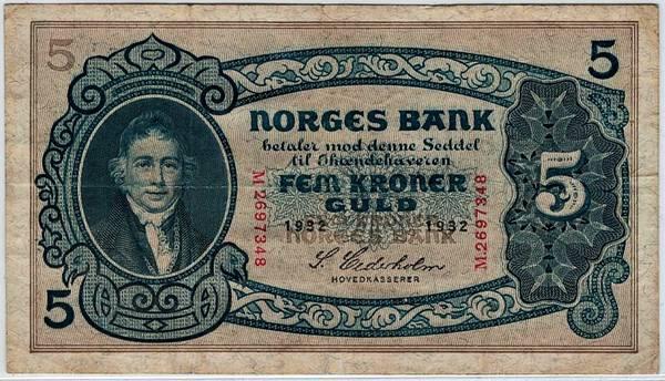 Bilde av 5 kroner 1932 M